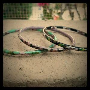 Vintage Cloisonne 3 Bracelets
